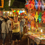 Flea-Market-in-Goa-at-Night