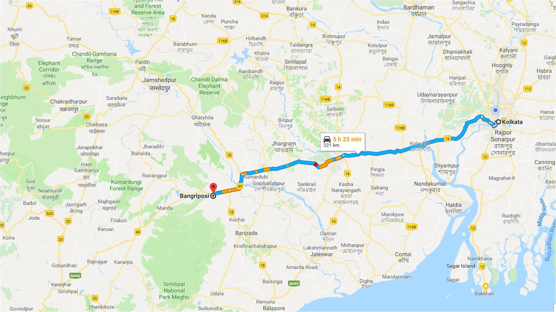 Kolkata-Bangriposi
