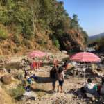 Pumsi Homestay picnic beside the rive